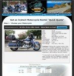 Motorcycle Rental Reservation Page (top)