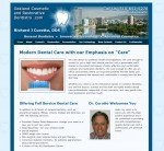Dentistry website home page - rebuilt on WordPress