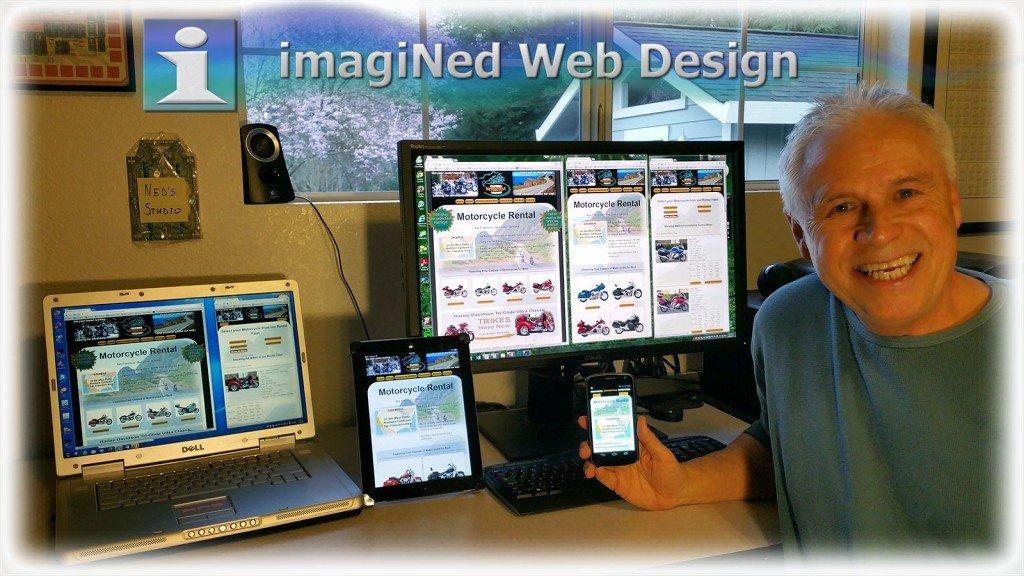 Ned Buratovich in his Web Design Studio