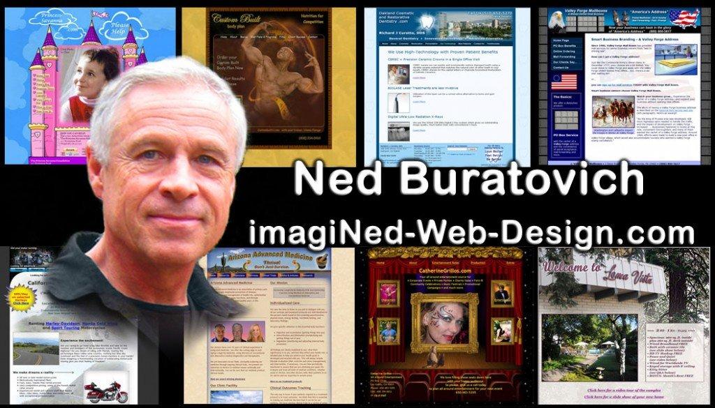 imagiNed Web Design Business Card - Front Side