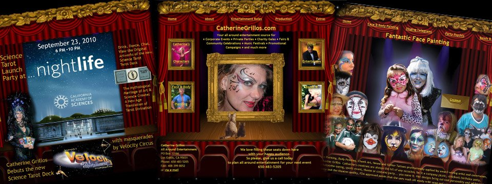 Performer/Entertainer website sets the stage