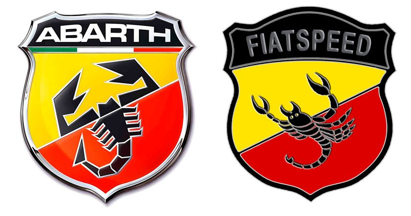Abarth-Fiatspeed badge comparison