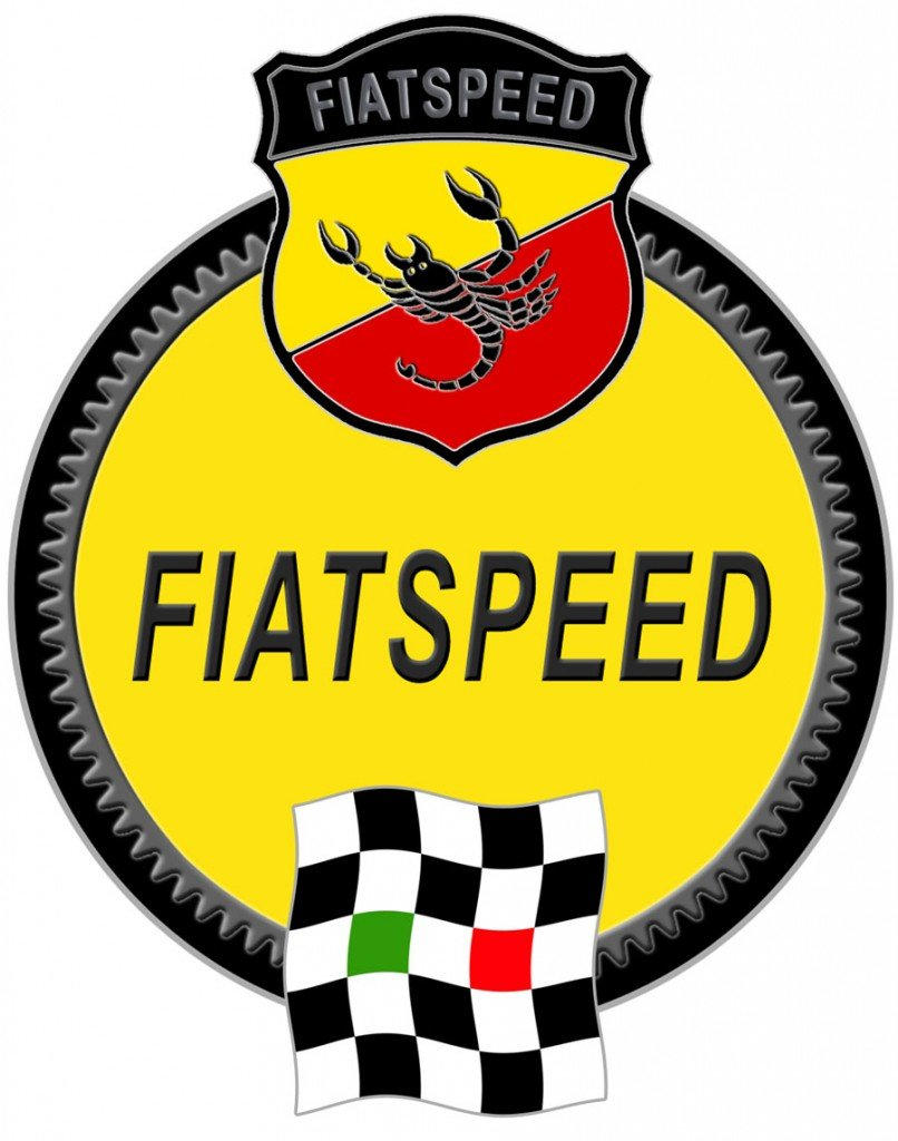 FIATSPEED Emblem with Flag and Badge overlaid