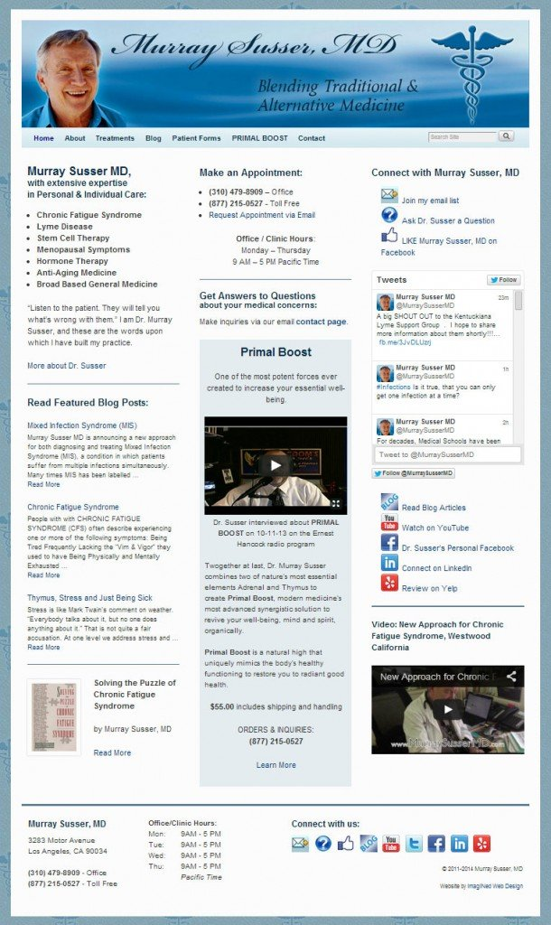 MurraySusserMD. com 3 column layout home page
