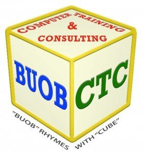 """BUOB Rhymes With CUBE"" cubic logo"