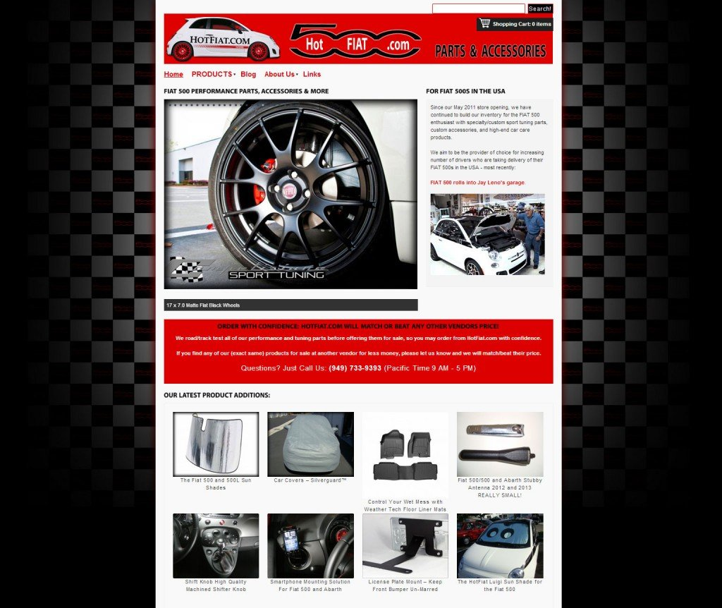 Home page for HotFiat.com