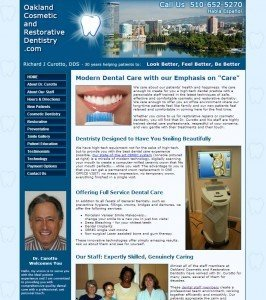 Dentistry Website Home Page - old HTML version