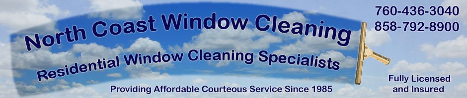 Cloudy / Clear Header Graphic for Window Cleaning Website