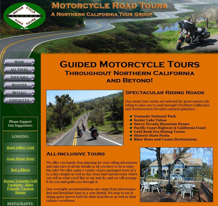 MotorcyleRoadTours.com home page