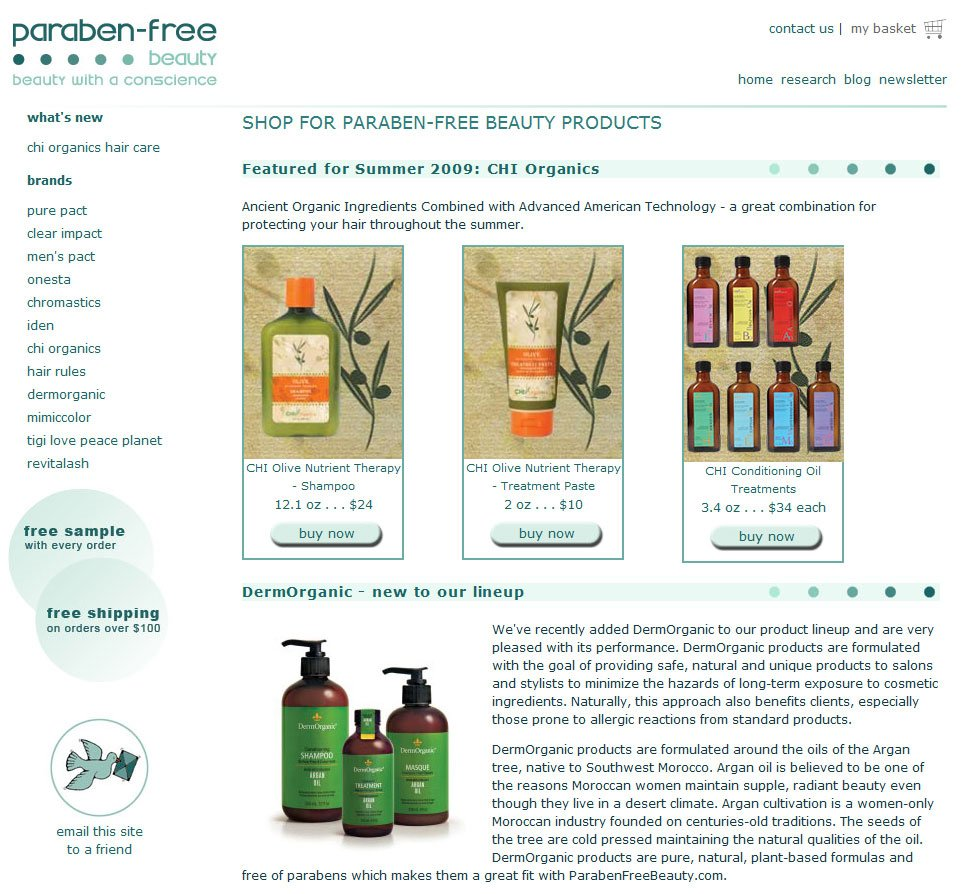 Paraben Free Beauty - Home Page
