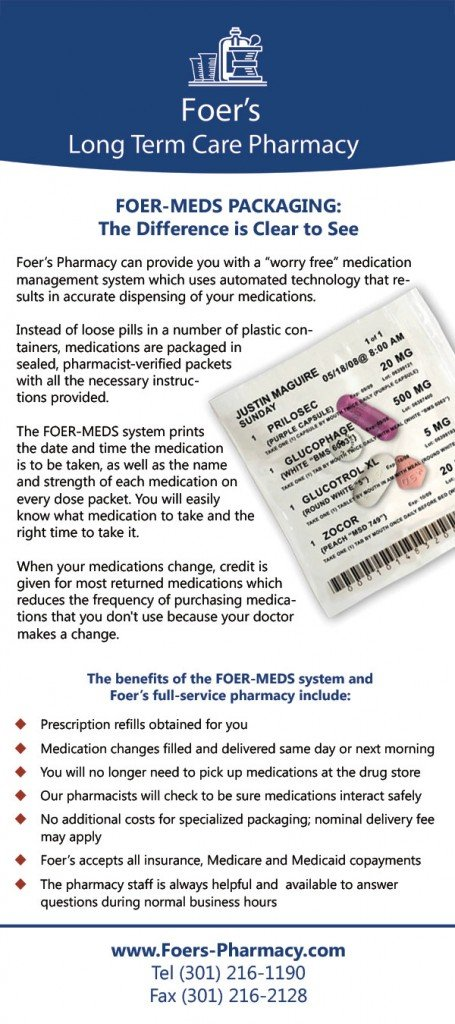 Front Side of Pharmacy Rack Card