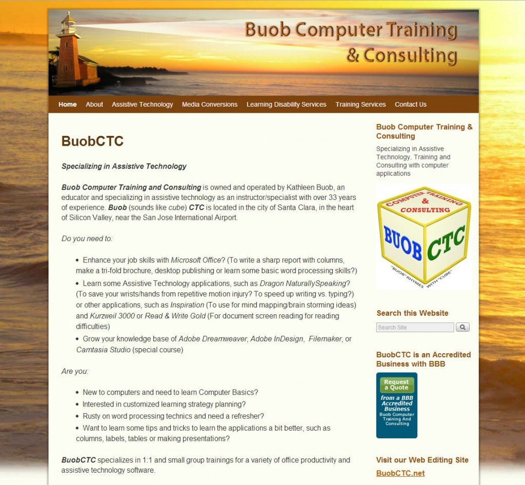 BuobCTC.com home page
