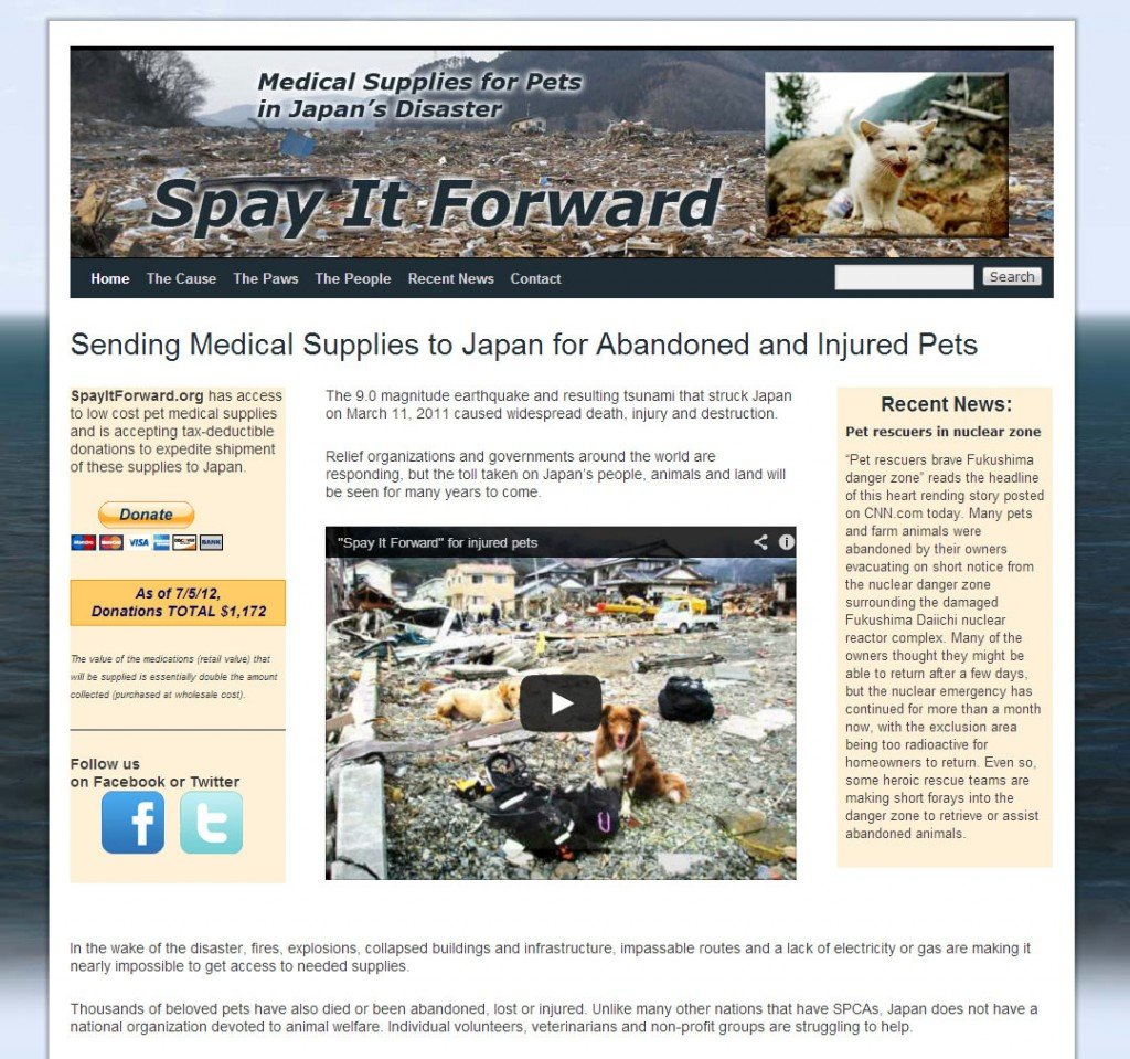 SpayItForward Home Page