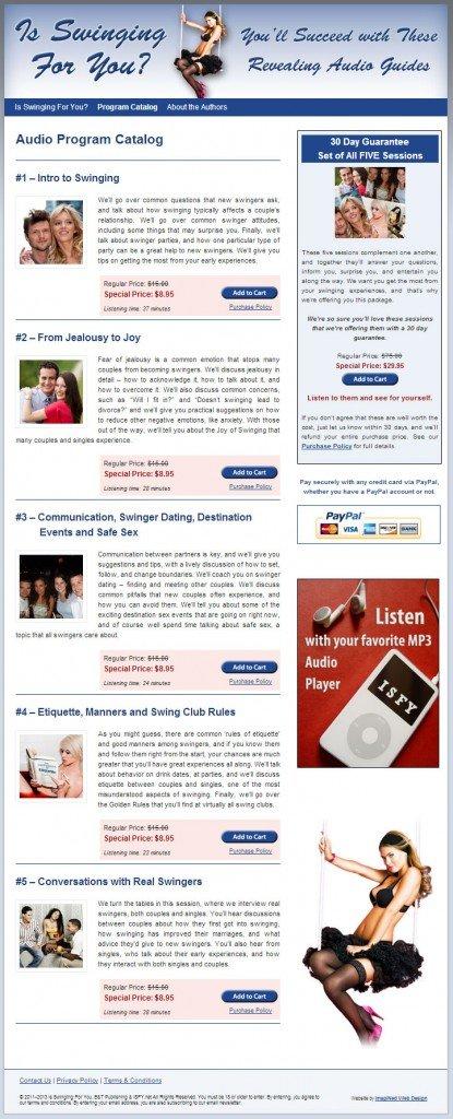 Audio Program Catalog Page