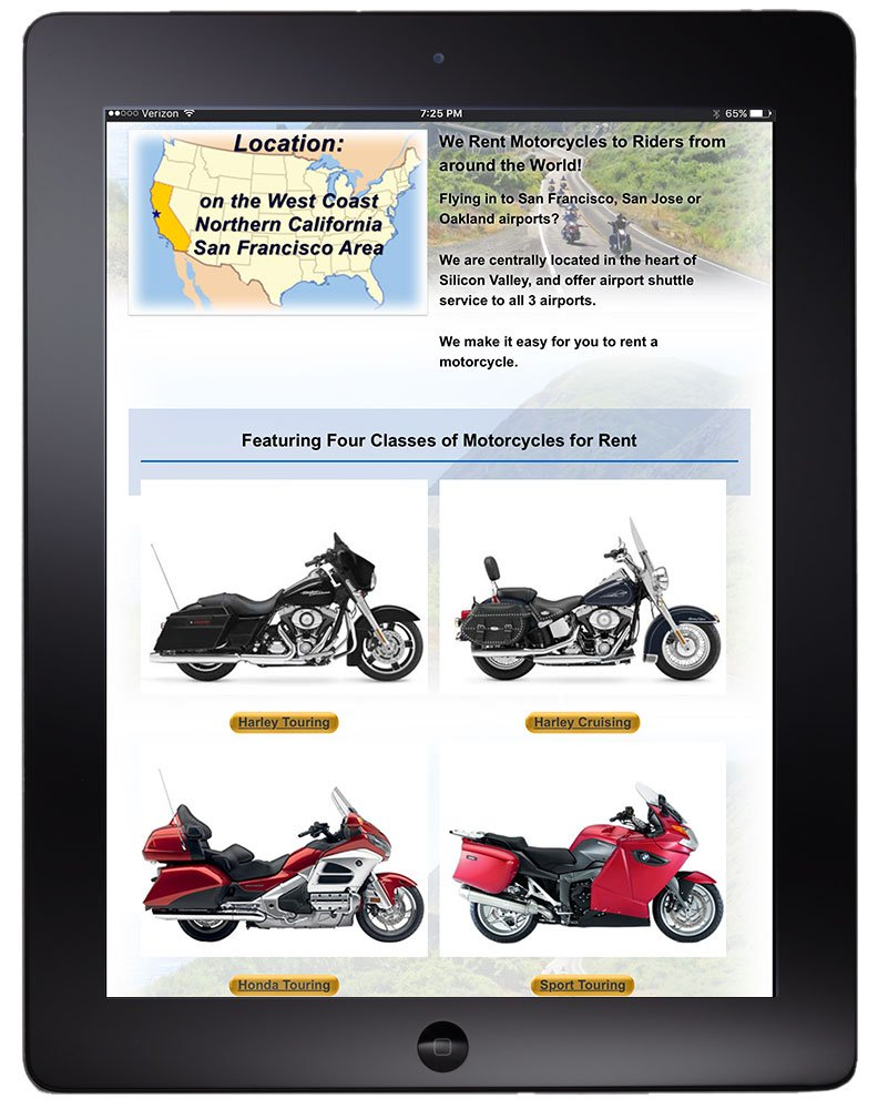 4-way slideshows on tablet