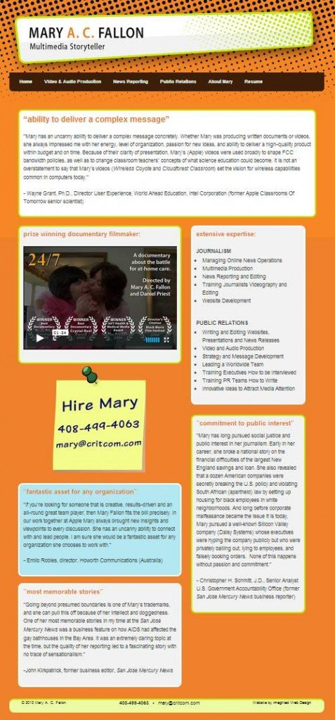 Home Page snapshot