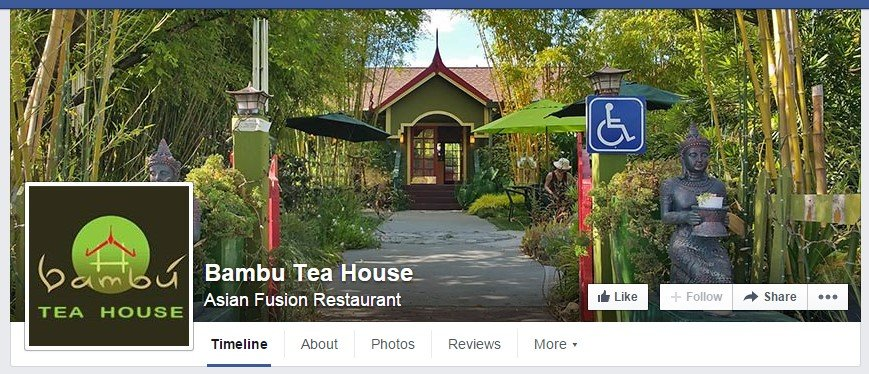 Facebook business page for Bambu Tea House.