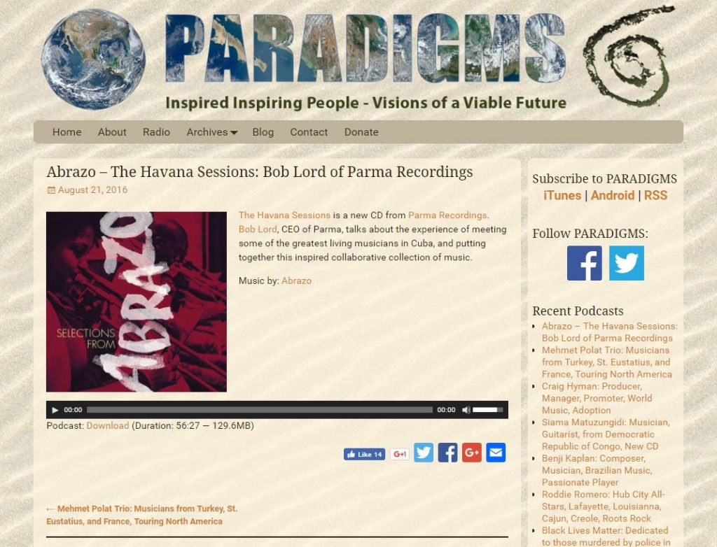 Paradigms.life individual podcast page