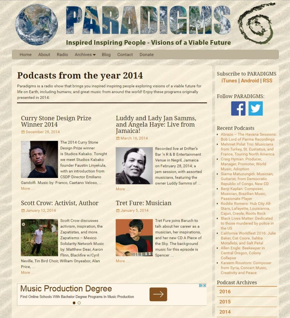 Paradigms.life Year Archive page