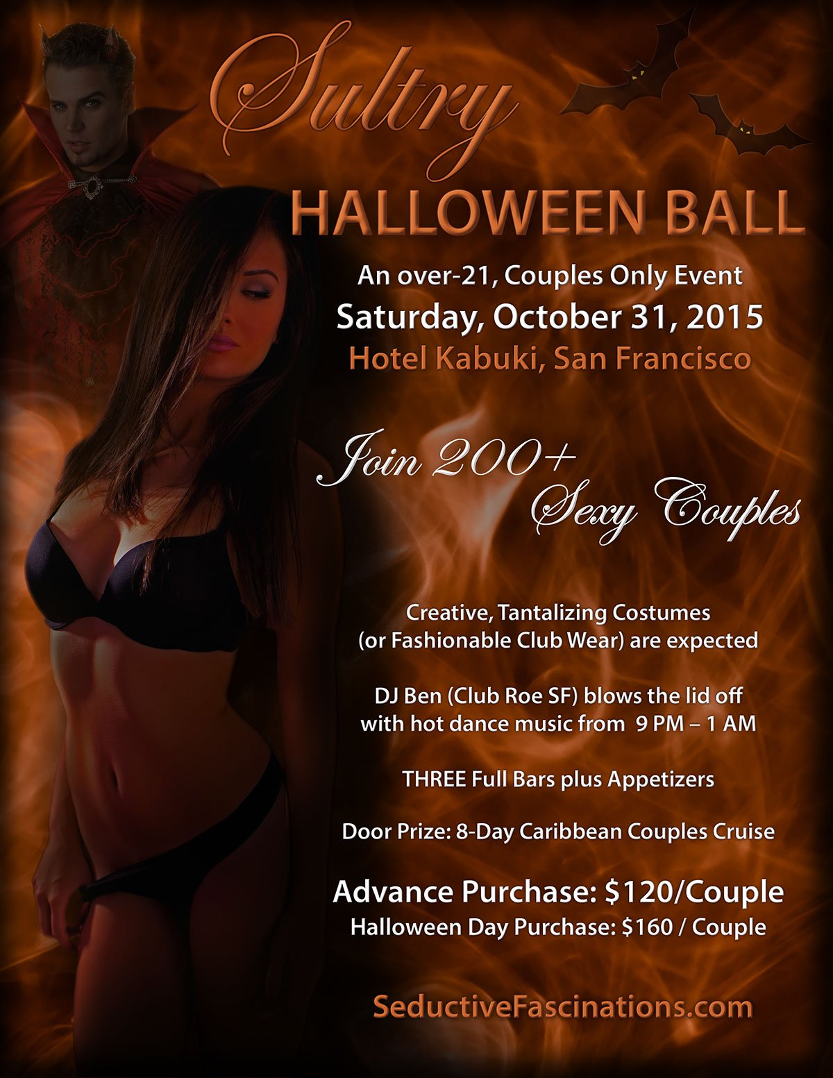 Flyer Designed For Adult Halloween Party